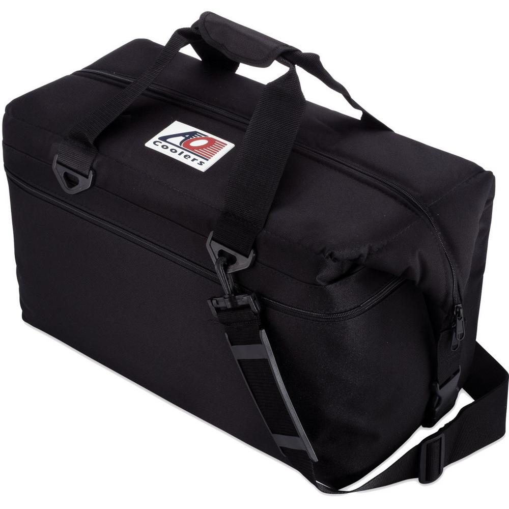 42 qt. Canvas Cooler with Shoulder Strap and Wide Outside Pocket