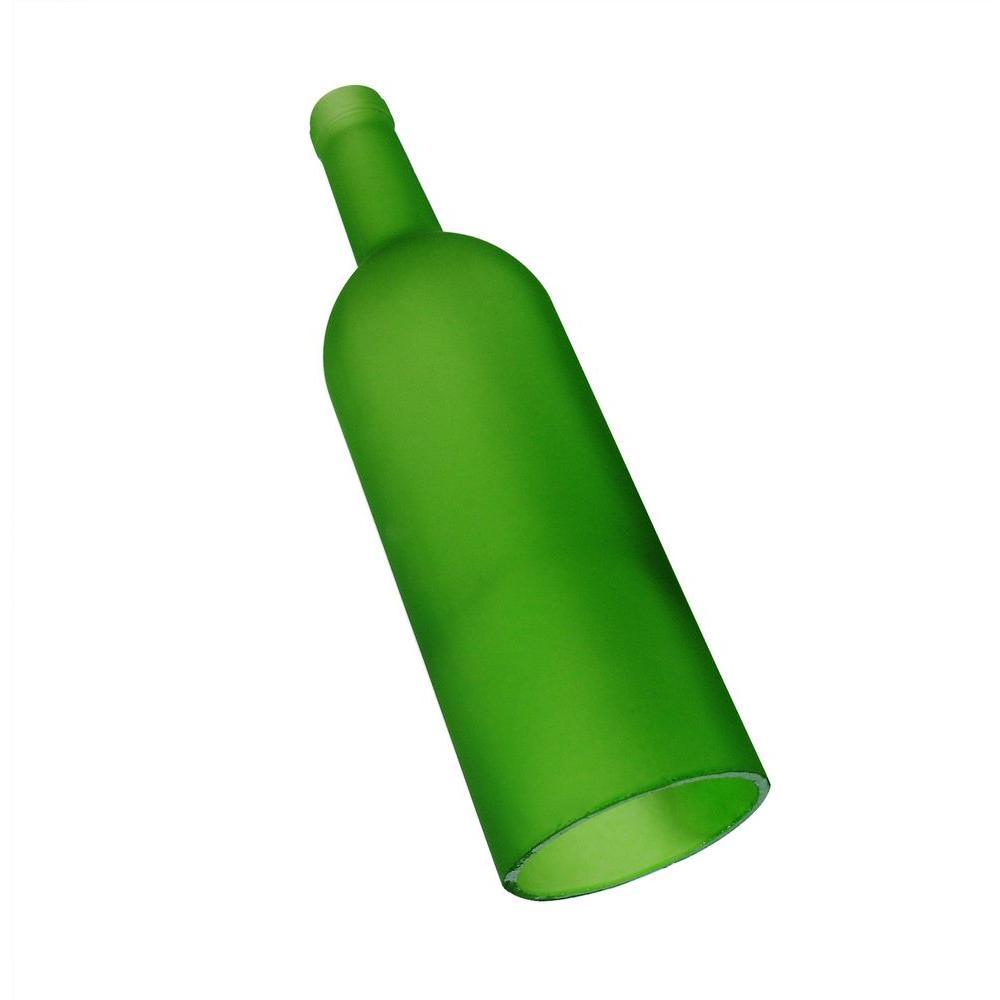 Green Wine Bottle Single Light Cover