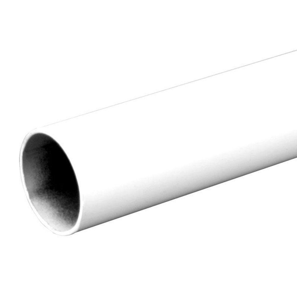 96 in. Heavy Duty White Closet Rod