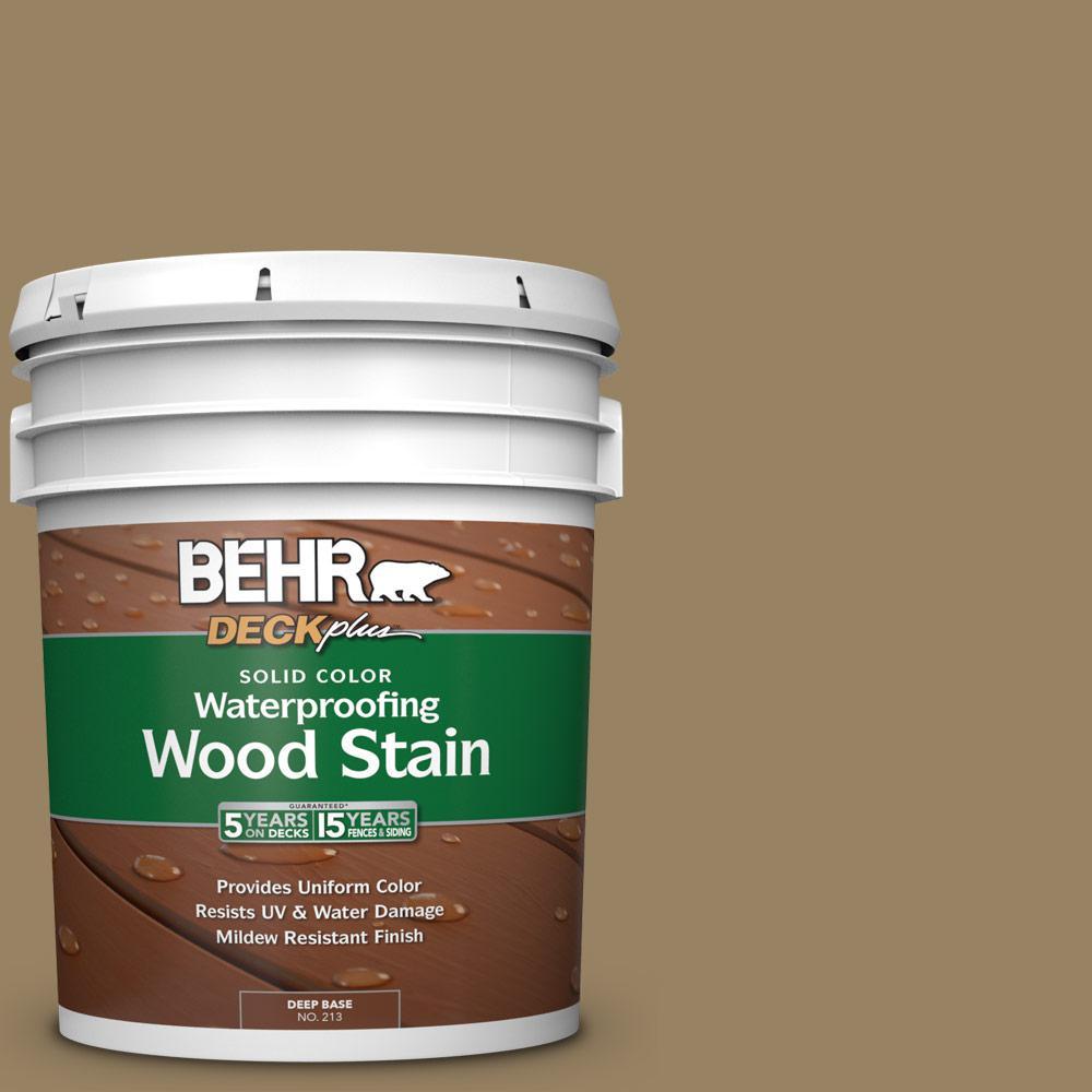 5 gal. #SC-121 Sandal Solid Waterproofing Exterior Wood Stain