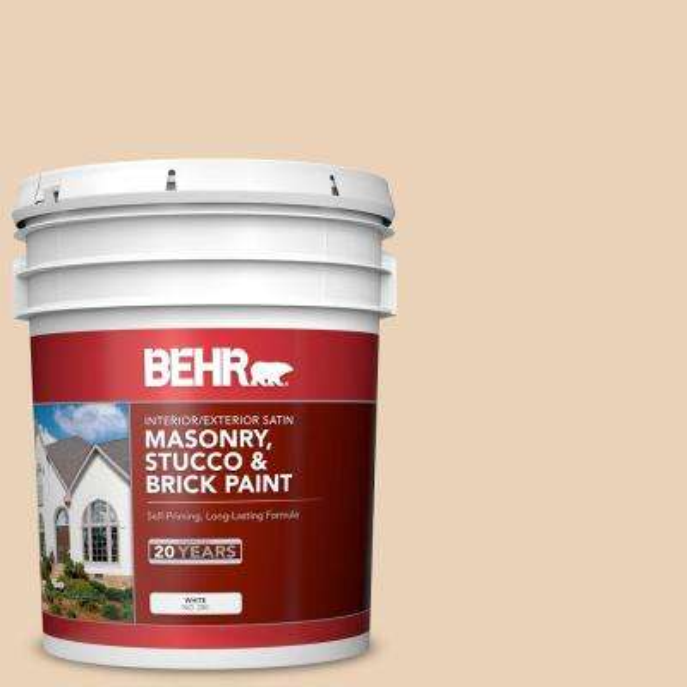 5 gal. #MS-20 Hacienda Satin Interior/Exterior Masonry, Stucco and Brick Paint