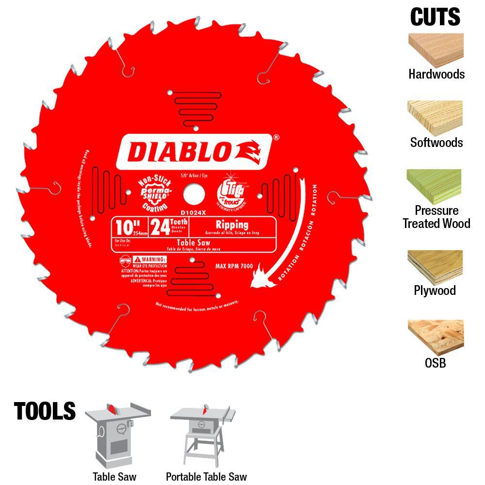 Diablo 10 in. x 24-Teeth Ripping Saw Blade (25-Pack)
