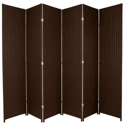 7 ft. Dark Mocha 6-Panel Room Divider