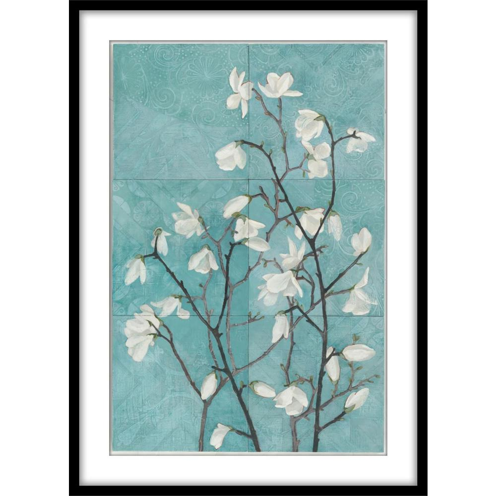 9 75 in x 11 75 in magnolia branchframed wall art