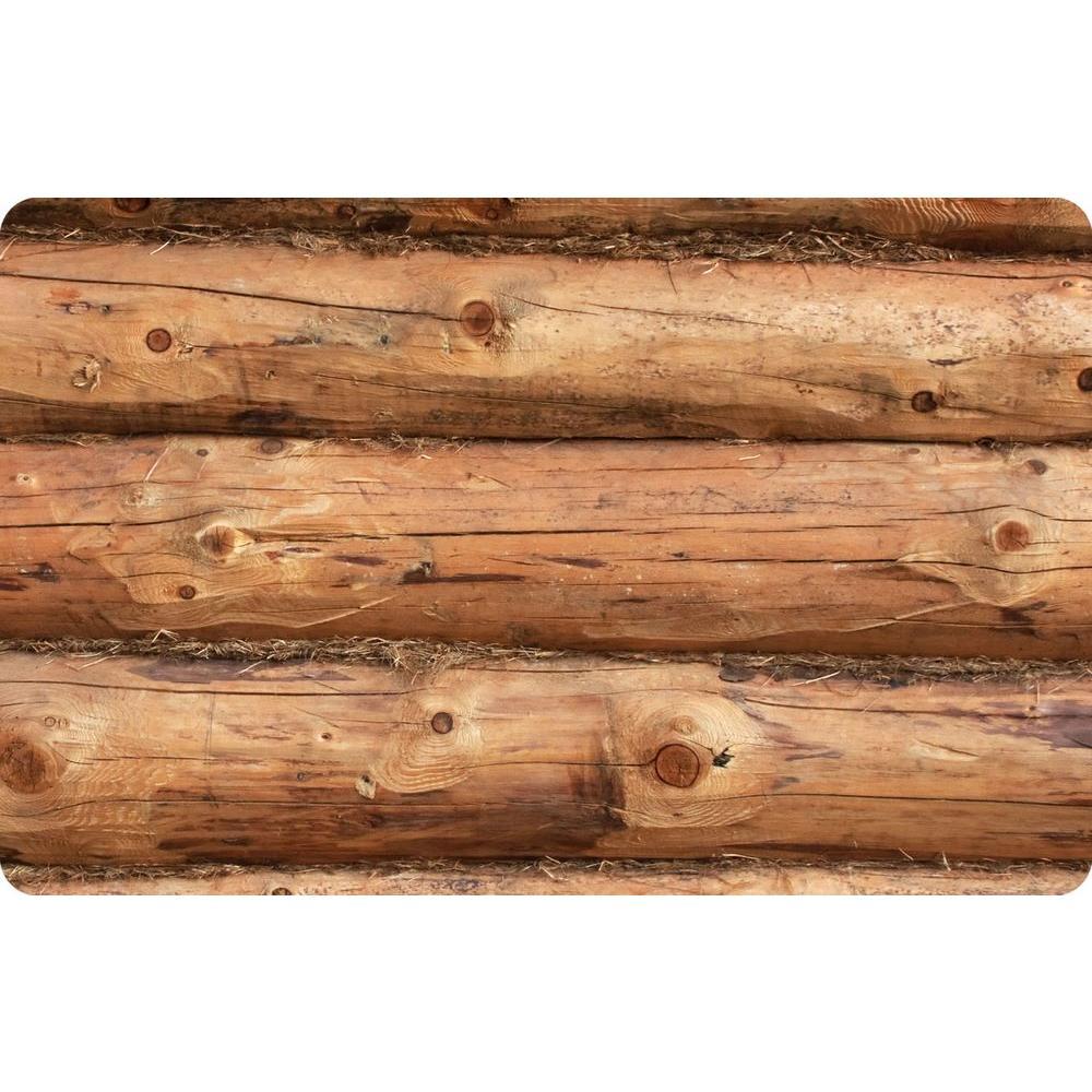 Bungalow Flooring Multi Color 18 inch x 27 inch Neoprene Log Jammer Door Mat by Bungalow Flooring