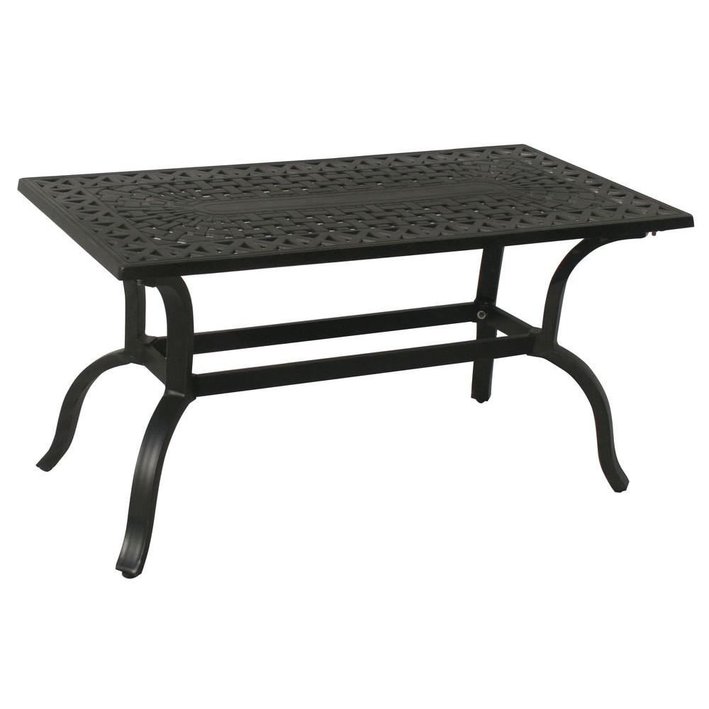 Aluminum Patio Coffee Table: Oakland Living Hampton Aluminum Rectangular Patio Coffee