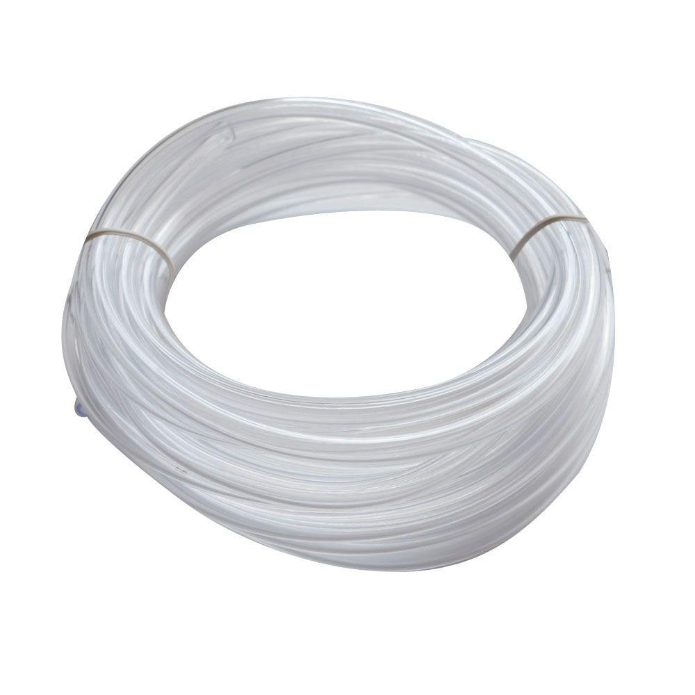 Everbilt 1/4 in. O.D. x 1/6 in. I.D. x 20 ft. Clear PVC Vinyl Tubing
