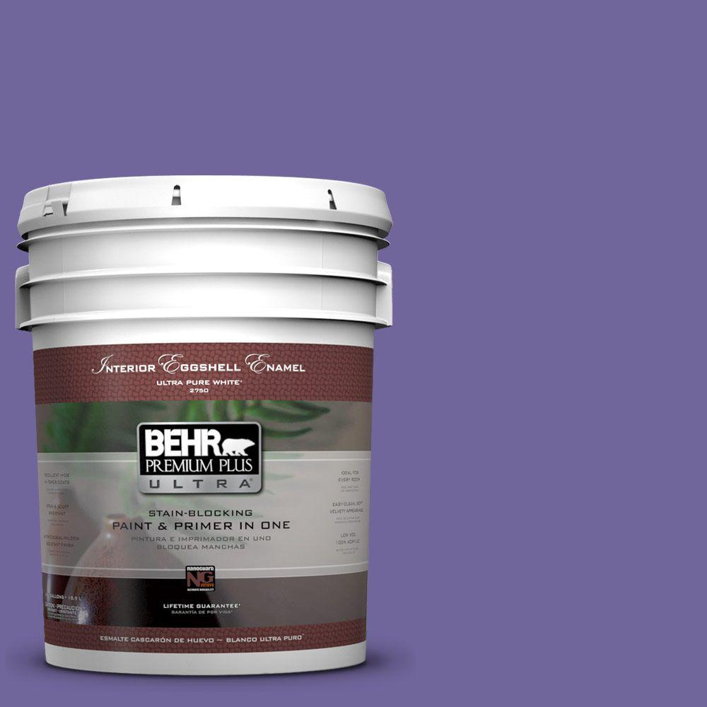 BEHR Premium Plus Ultra 5-gal. #630B-7 Pandora Eggshell Enamel Interior Paint