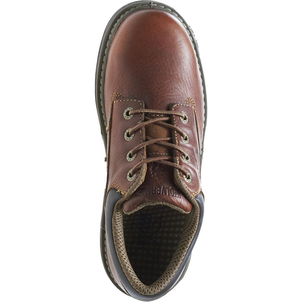 2f136257095 Wolverine Men's Raider Size 11M Brown Full-Grain Leather Steel Toe Oxford