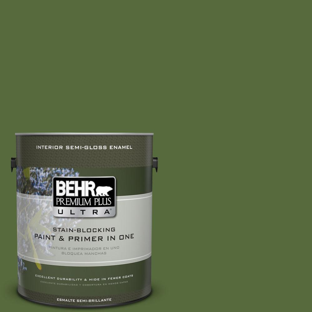 1-gal. #410D-7 Mountain Forest Semi-Gloss Enamel Interior Paint