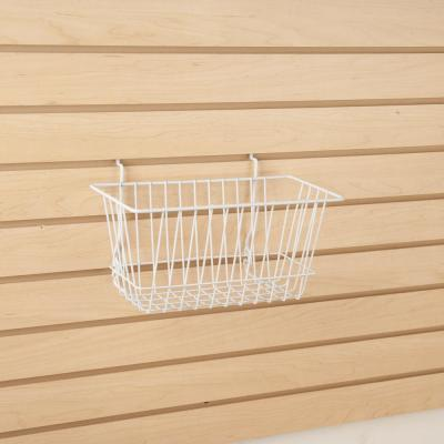 12 in. W x 6 in. D x 6 in. H White Narrow Wire Basket (Pack of 6)