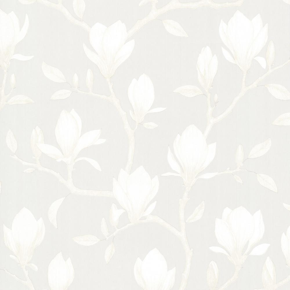 Grandiflora Beige Magnolia Wallpaper Sample