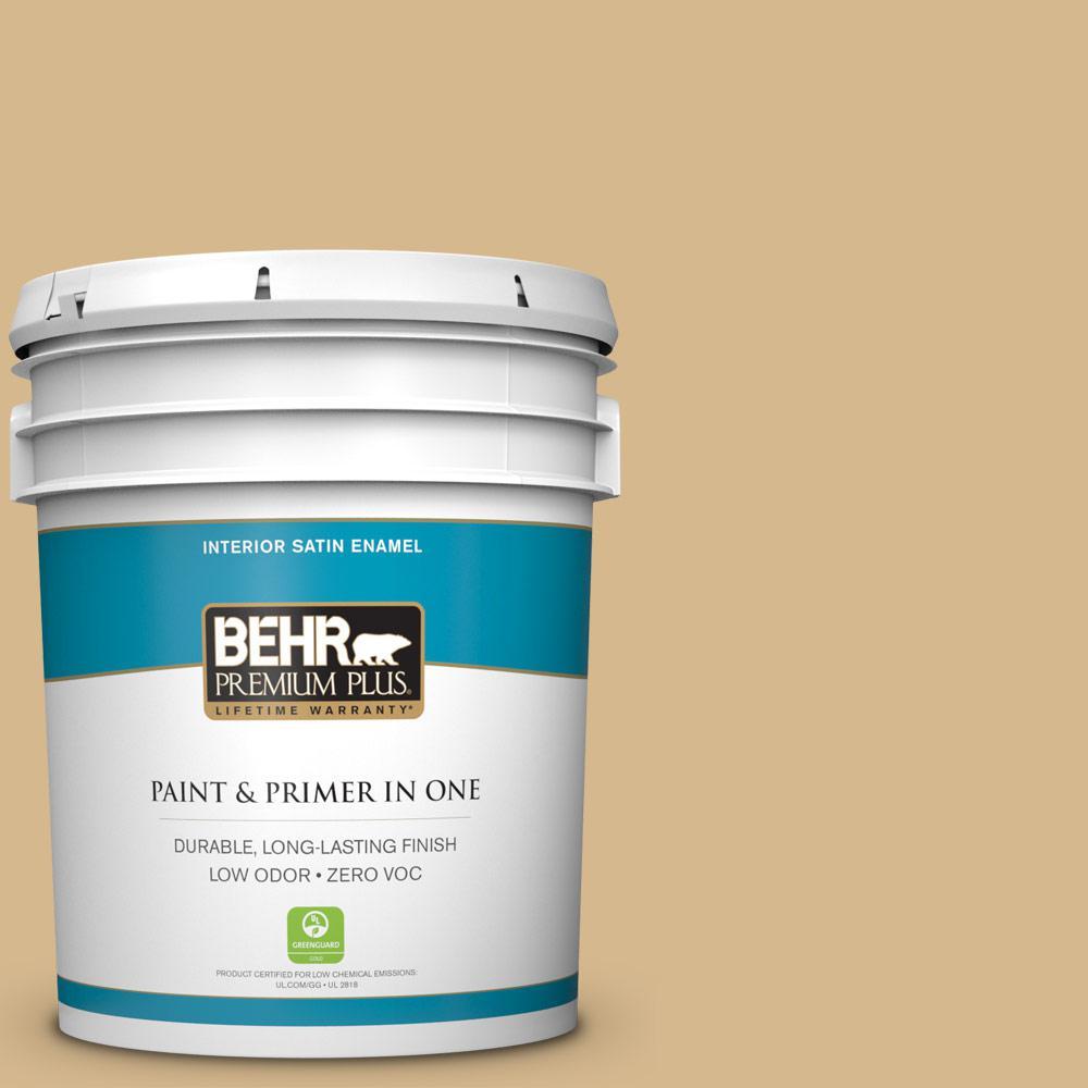 5-gal. #BXC-34 Mineral Yellow Satin Enamel Interior Paint