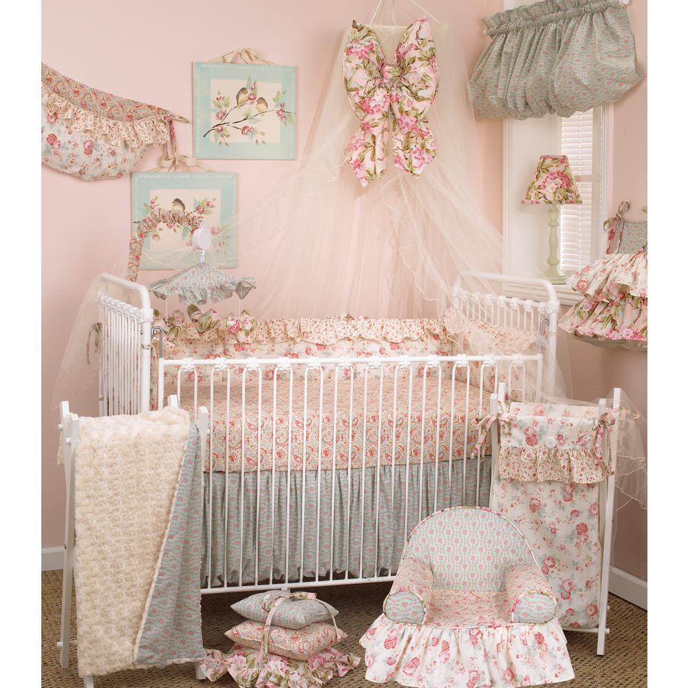 Tea Party Multi-Color Floral Cotton Kid's Foam Chair