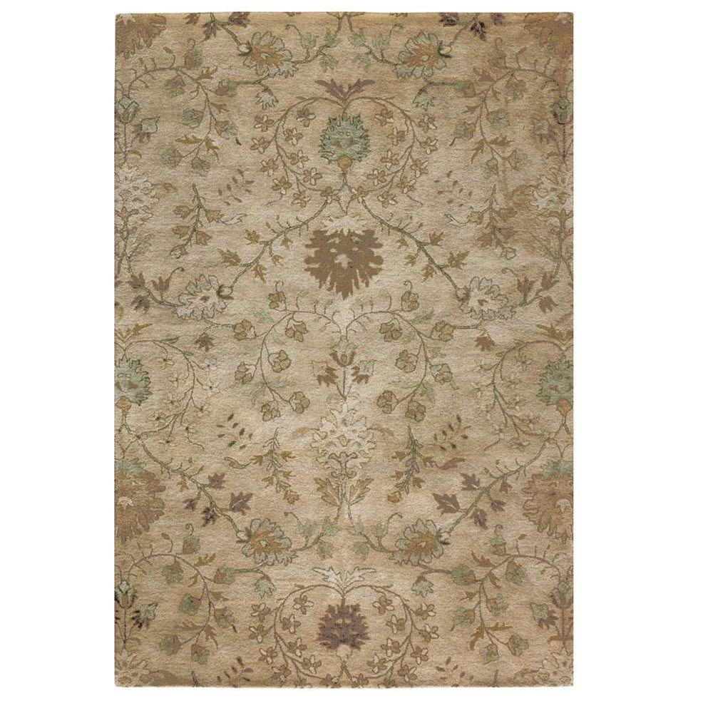 home decorators collection baroness beige 3 ft x 5 ft