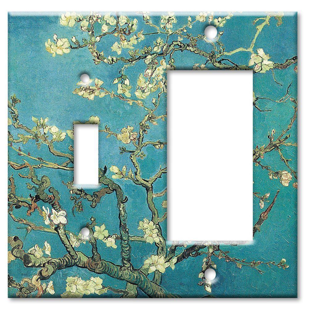 Art Plates Van Gogh Almond Blossoms Switch/Rocker Combo Wall Plate