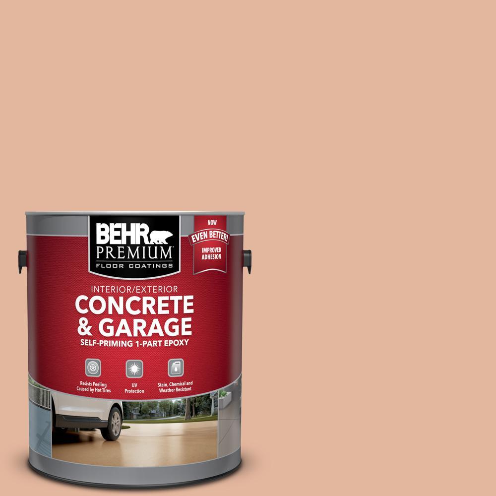 1 gal. #PFC-06 Georgia Peach Self-Priming 1-Part Epoxy Interior/Exterior Concrete and Garage Floor Paint