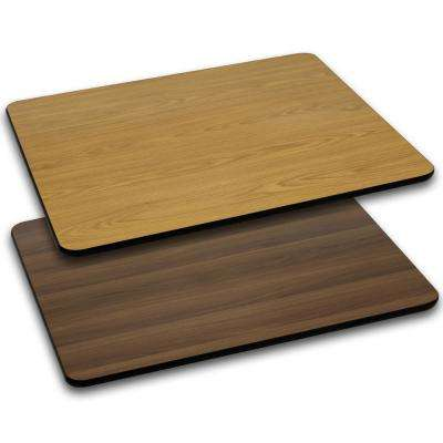 Natural/Walnut Rectangle Table Top