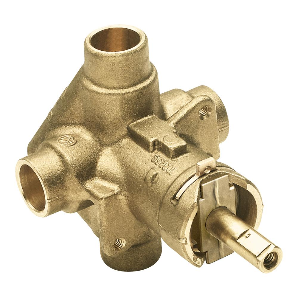 Brass Rough-In Posi-Temp Pressure-Balancing Cycling Tub and Shower Valve - 1/2