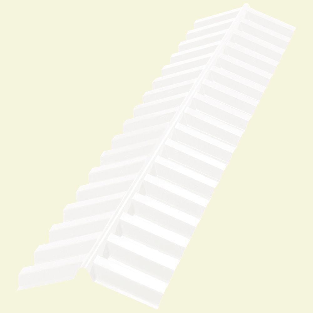 4 ft. Clear Polycarbonate Ridge Cap Flashing