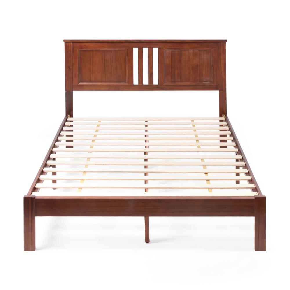 Norland  Dark Oak Wood Queen Bed Frame