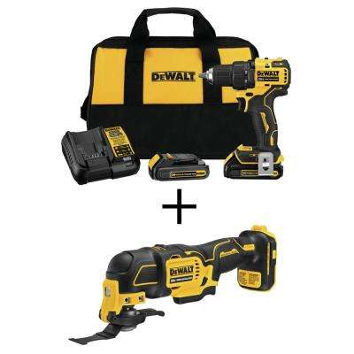 ATOMIC 20-Volt MAX Lithium-Ion Brushless Cordless Compact 1/2 in. Drill Driver with Bonus Oscillating Tool (Tool-Only)
