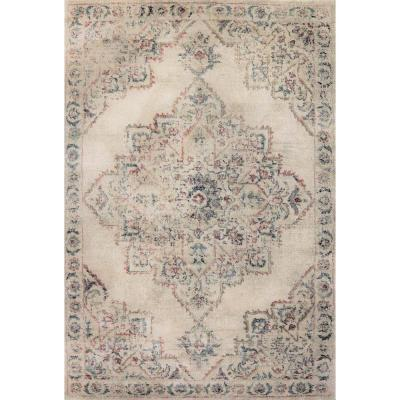 Bali Cream 5 ft. 3 in. x 7 ft. 7 in. Contemporary Polypropylene Area Rug