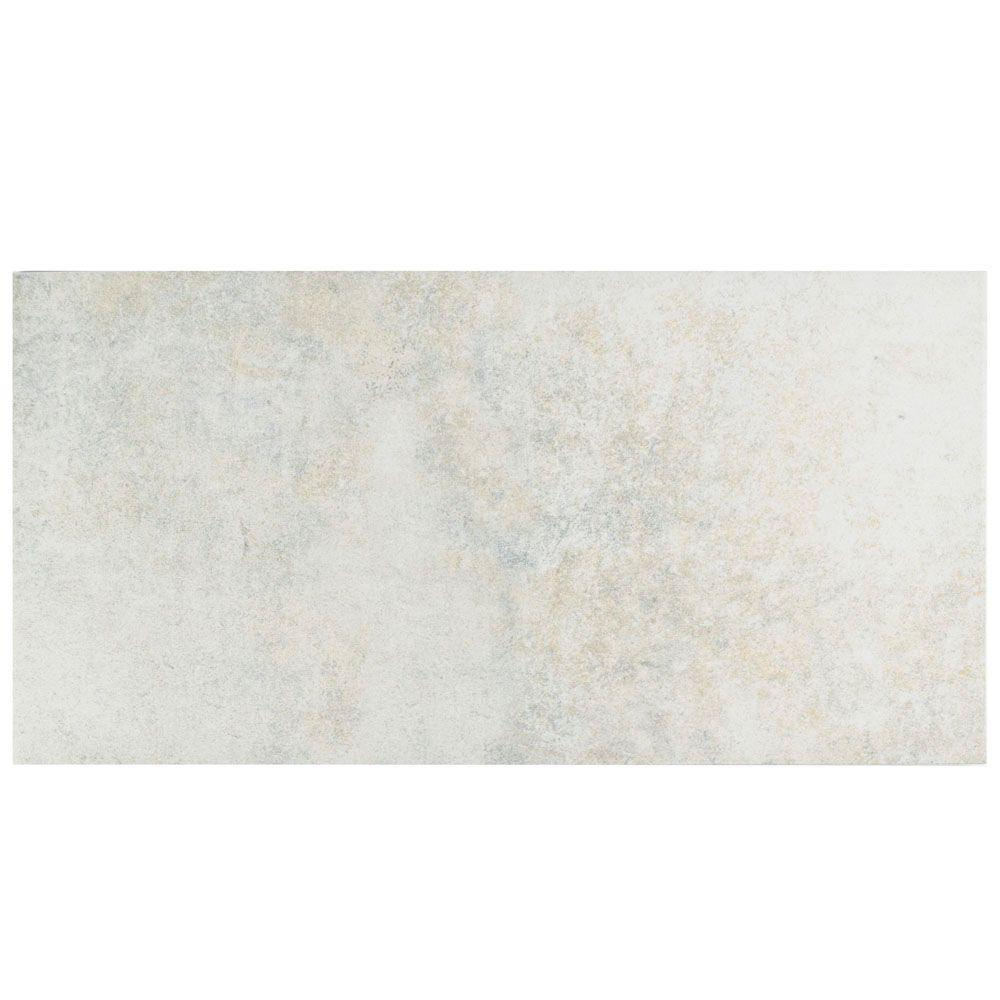 City Pearl 11 in. x 22-1/8 in. Porcelain Floor and Wall