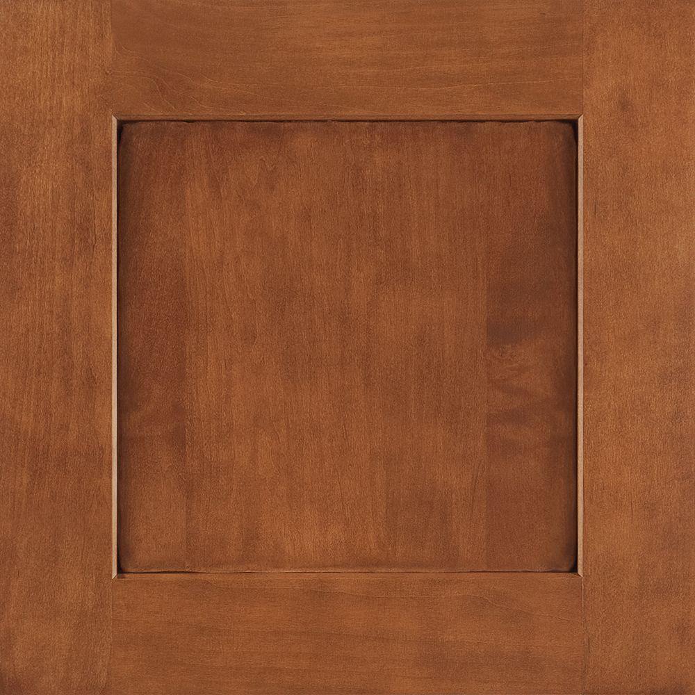 14-9/16x14-1/2 in. Cabinet Door Sample in Reading Maple Auburn Glaze