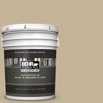 Behr Premium Plus Ultra 5 Gal Ppf 12 Sunny Gazebo Semi Gloss Enamel Exterior Paint And Primer In One 585005 The Home Depot