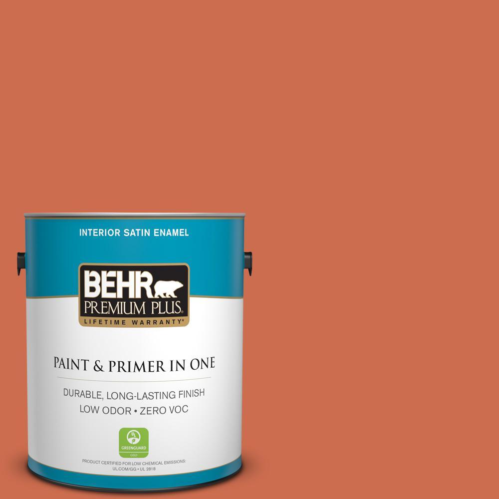 BEHR Premium Plus 1-gal. #M180-6 Tiki Torch Satin Enamel Interior Paint