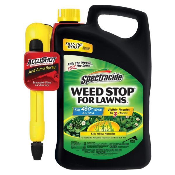 1.33 Gal. Weed Stop for Lawns with Accushot Sprayer Ready-To-Use Lawn Weed Killer