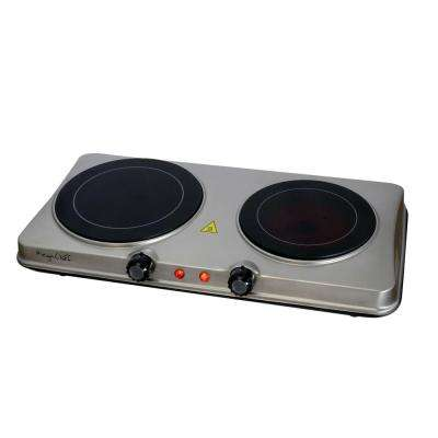 Portable Electric Dual Infrared Burner Cook-Top