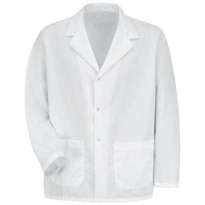 Men's Size 3XL White Specialized Lapel Counter Coat