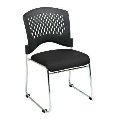 Black Gliding Visitor Office Chair (Set of 2)