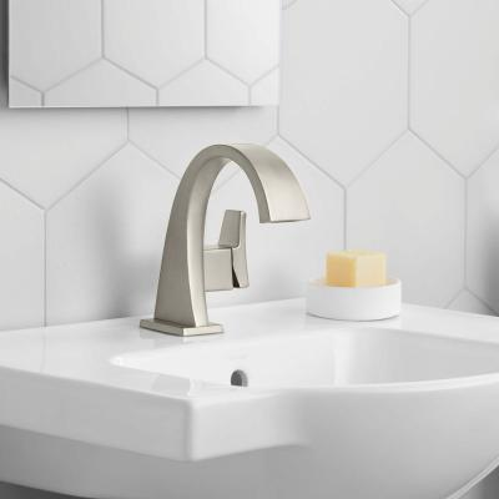 Katun Single Hole 1-Handle Bathroom Faucet in Vibrant Brushed Nickel