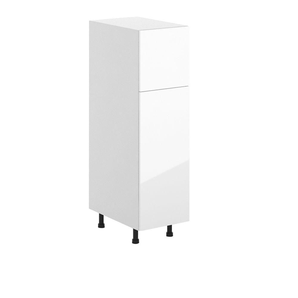 Eurostyle Valencia Ready To Emble 15 125 X 53 375 24 In Pantry Utility Cabinet White Melamine And Door