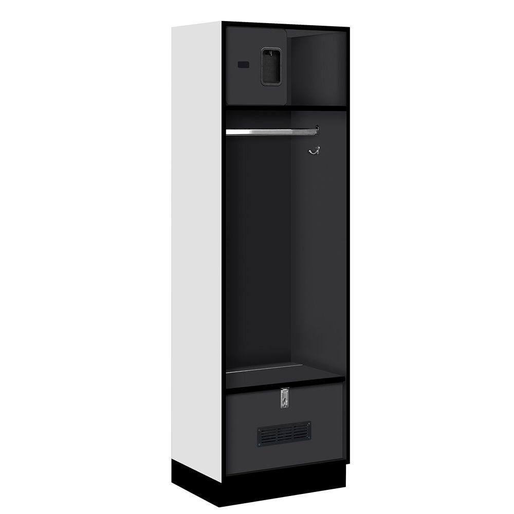 Salsbury Industries 30000 Series 24 in. W x 76 in. H x 18 in. D Open Access Designer Wood Locker in Black