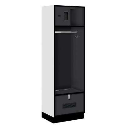 30000 Series 24 in. W x 76 in. H x 18 in. D Open Access Designer Wood Locker in Black