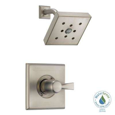 Dryden 1-Handle 1-Spray Shower Faucet Trim Kit in SpotShield Stainless with H2Okinetic Technology (Valve Not Included)