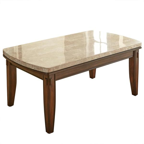 Eileen White Marble Top Cocktail Table Ee700c The Home Depot