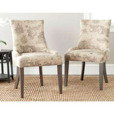 Lester Taupe Cotton/Linen Dining Chair (Set of 2)