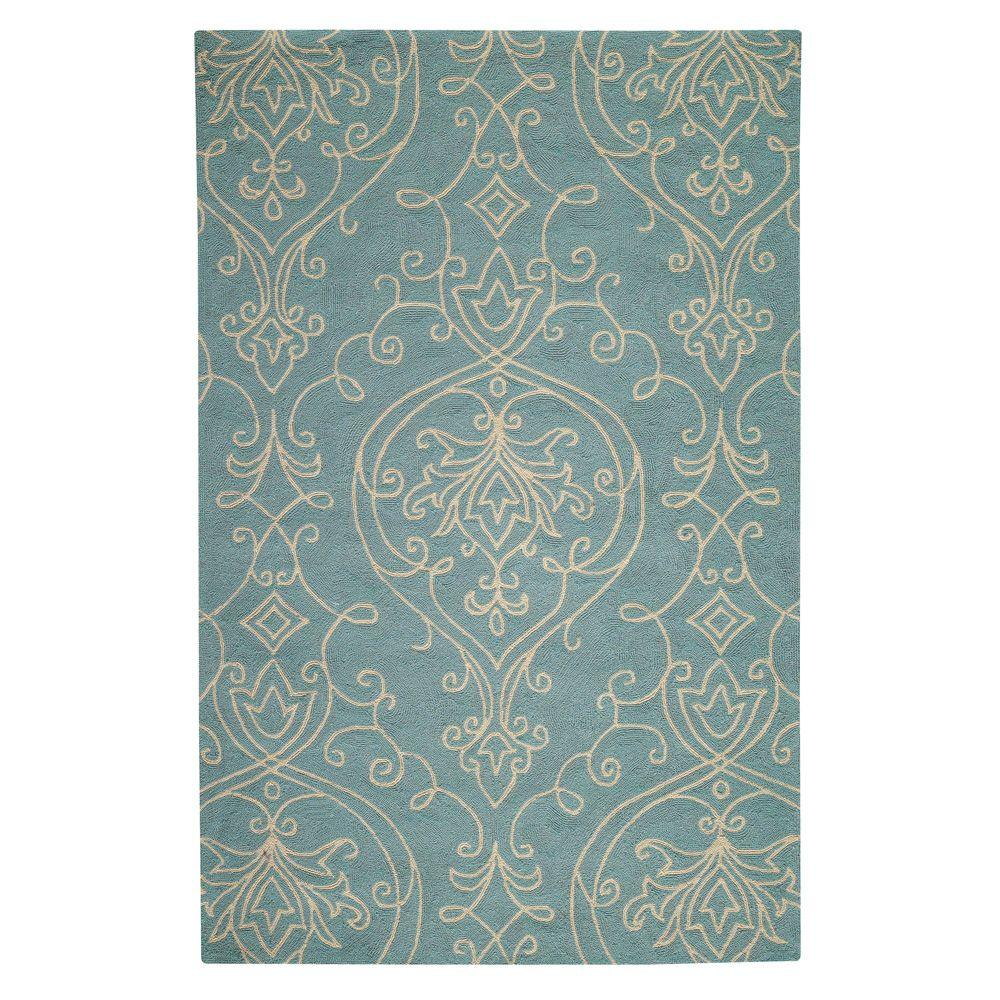 Home Decorators Collection Kenilworth Blue 3 ft. x 5 ft. Area Rug