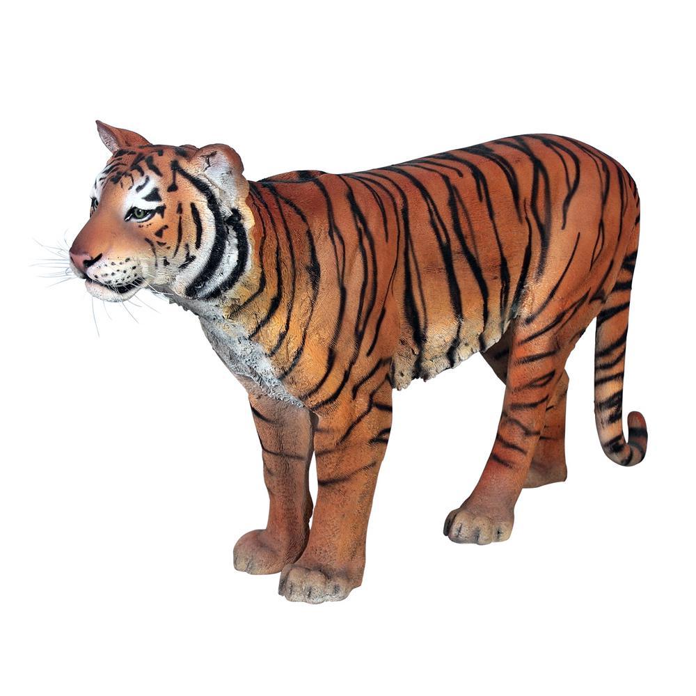 Design Toscano 37.5 In. H Powerful Pounce Sumatran Tiger