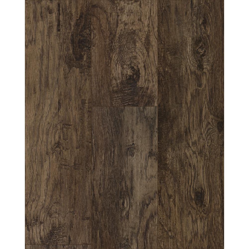 Take Home Sample - Saratoga Hickory Coffee Laminate Flooring - 5 in. x 7 in.