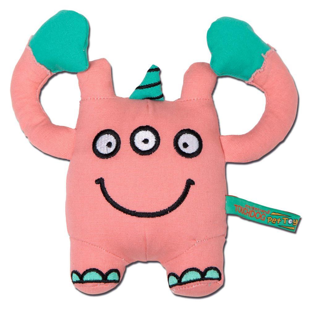 Pink Cartoon 3-Eyed Monster Plush Dog Toy