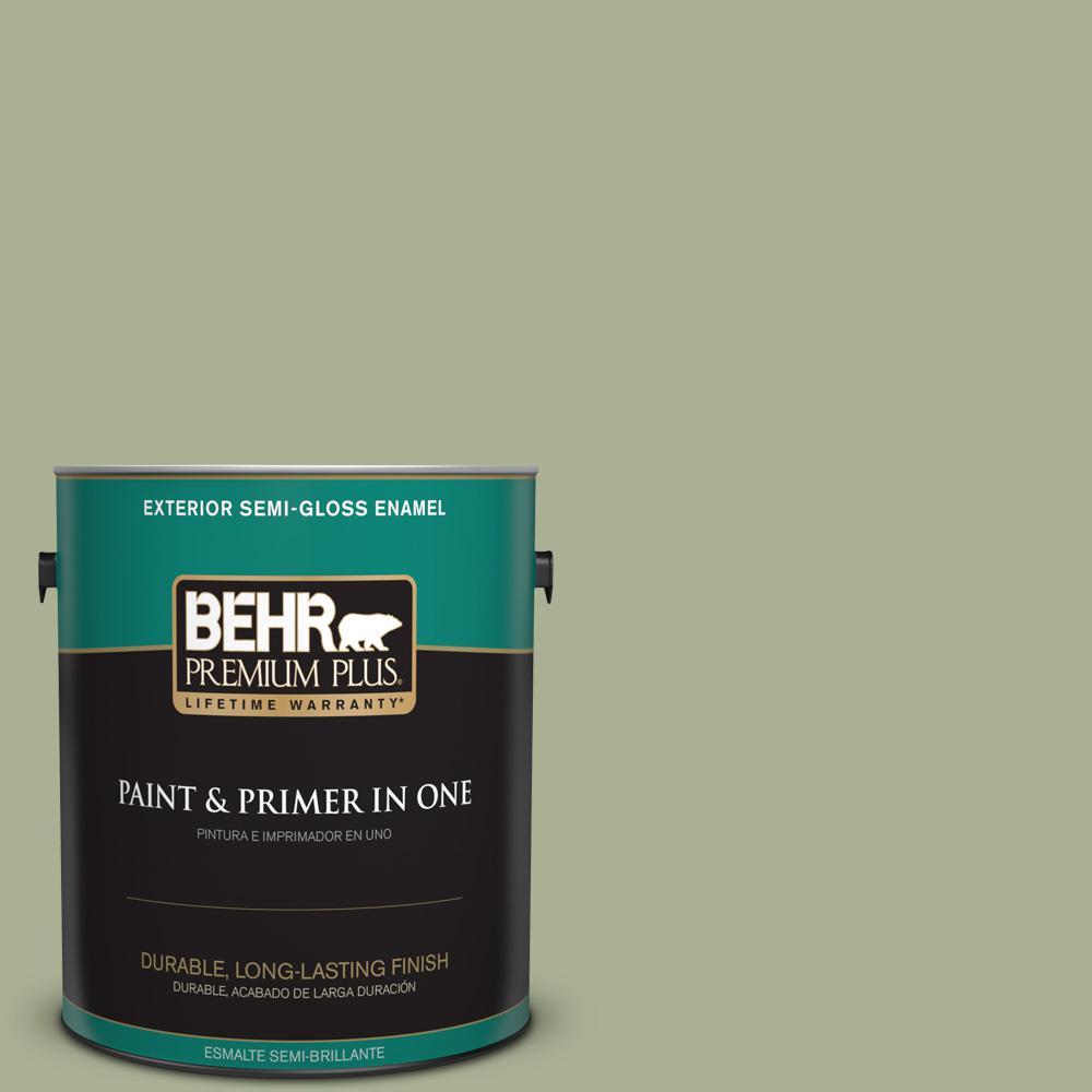 1 gal. #PPU10-06 Spring Walk Semi-Gloss Enamel Exterior Paint
