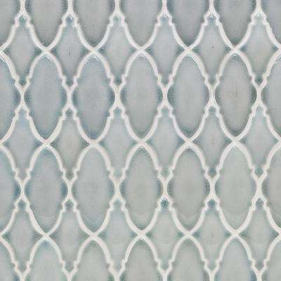 Oracle Valor Arctic Blue 9-1/4 in. x 9-3/8 in. x 10mm Glazed Ceramic Mosaic Tile