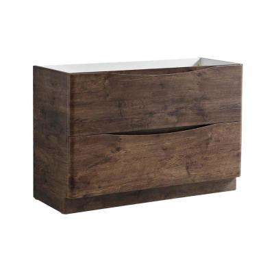 Tuscany 48 in. Modern Double Bath Vanity Cabinet Only in Rosewood