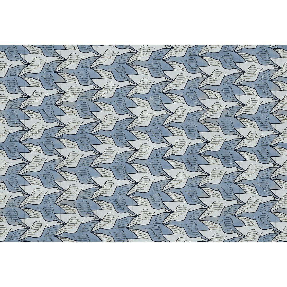 Sirpi Alyssa Light Blue Birds Wallpaper